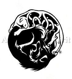 Tiger wolf tattoo