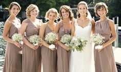 Ceremony By Joanna August | Bridesmaid Dresses | Neutral Hues | Mix and Match Bridesmaid Styles | Real Wedding
