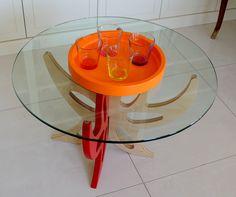 Orange coloured  tray