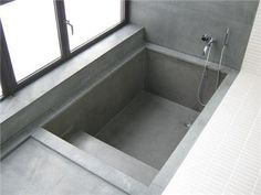 Sunken bath and shower combo, I wish I\'d thought of this when I ...