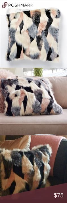 Faux Fur Foxy Pillow Cover-West Elm Multi color faux pillow West Elm Other