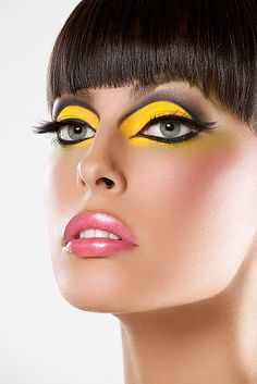 yellow makeup | Yellow and Black Eye Makeup – Beauty and Make Up Pictures