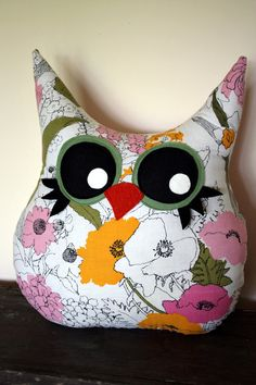 owl pillow stuffed animal owl by 5orangepotatoes on Etsy, $28.00