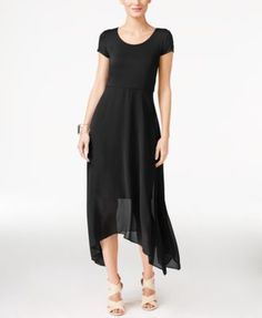 Vince Camuto Asymmetrical Chiffon-Contrast Dress  Now $89.99    Orig. $119.00 EXTRA 15% OFF