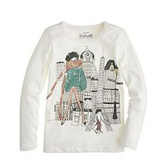 Girls' long-sleeve winter in Paris tee