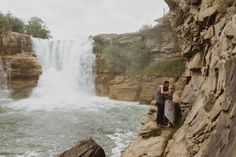 Engagement Photos at Lundbreck Falls in Crowsnest Pass with the couples' dogs in the pictures. Photos by Havilah Heger Photography Banff National Park, National Parks, Engagement Shoots, Wedding Engagement, How Beautiful, Beautiful Places, I Love Dogs, Big Day, Wedding Photos