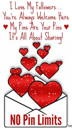 I Love My Followers... You're Always Welcome Here ♥ No limits EVER ♥ It's all about sharing! ♥ Tam ♥