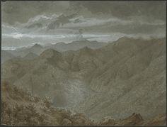 Eugène Viollet-le-Duc, les montagnes du coté de Sarrancolin, 17 août 1833 Lavis gouache Ministère de la Culture (France), Médiathèque de l'architecture et du patrimoine, dist. RMN