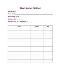 Auction Ideas for Center Image result for free printable silent auction templates