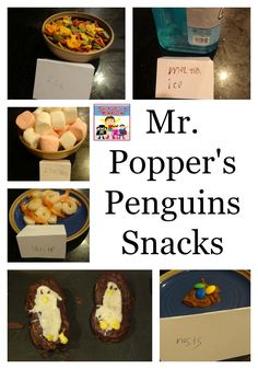 Mr. Popper's Penguins snacks