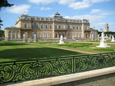 This is the southern façade of Wrest House, overlooking the formal gardens. Silsoe, Bedfordshire, England, UK.