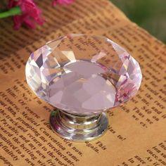 Floureon® 8PCS Diameter 40mm Crystal Glass Cabinet Knob Cupboard Drawer Pull Handle, Come with 3 kinds of Screws (Pink) FLOUREON® http://www.amazon.com/dp/B00GL0775E/ref=cm_sw_r_pi_dp_6VUqwb10DZA1C