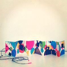 abstract accordion handmade book by Lisa Congdon