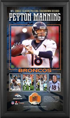 329a681b71e Peyton Manning NFL Denver Broncos Framed 10x18 Collage w  Game-Used  Football -LE
