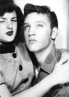 elvis andjeanette fruchter in a photobooth. shreveport la, 1954.