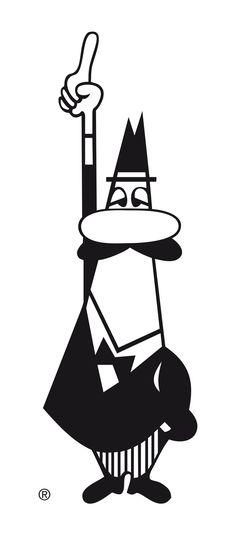 L'omino con i baffi (the mustachioed little man). Alfonso Bialetti. 1933.