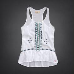 Bettys Embroidered Beach Tank   #InHollister Shorts & Swim   HollisterCo.com