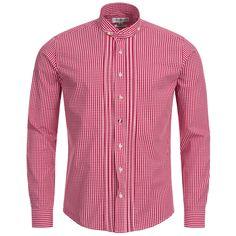 Trachtenhemd Slim Fit in Rot von Almsach