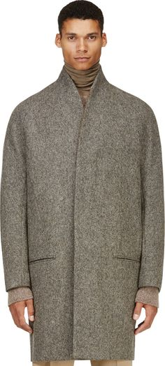 Haider Ackermann - Grey Minimalist Wool Coat | SSENSE