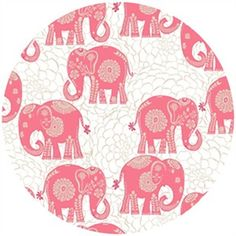 I hate pink, but I like this elephant print!