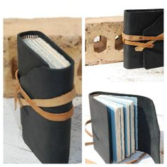 Leather Bound Journal Handmade Pocket Travel Diary, discovered on Etsy