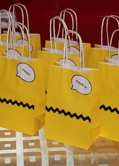Harris Sisters GirlTalk: Charlie Brown - Peanuts - Snoopy - Birthday Party - Goodie Bags - DIY