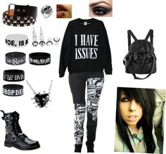 """""""I Have Issues"""" by walkingdeadnerd ❤ liked on Polyvore"""