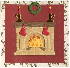 Leane Creatief - Cutting & Embossing Dies - Fireplace 3D