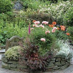 Garden seat.