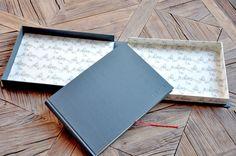 Libro de firmas con caja personalizado. www.silviagali.com