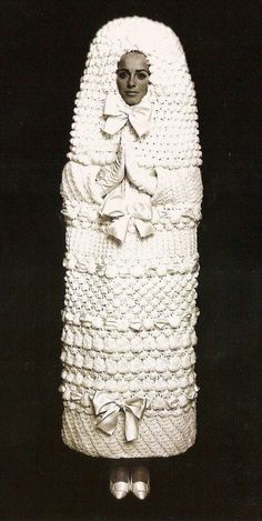 YSL knitted wedding dress 1965