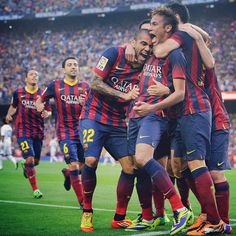 FC Barcelona vs Real Madrid  After Neymar scoring the first goal of the match  El Classico