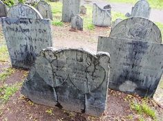 Tombstones. Many from the Salem witch trials of 1692. I love going here.
