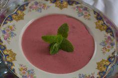 Strawberry Yogurt Soup Tea Party Menu, Yogurt, Strawberry, Soup, Pudding, Desserts, Ideas, Tailgate Desserts, Deserts
