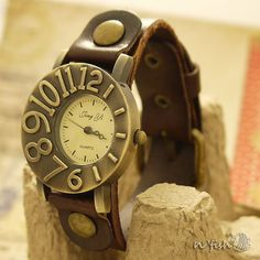 Leather Watch Leather Bracelet Watch Women Leather by nfishshop, $27.95 - For the hubby
