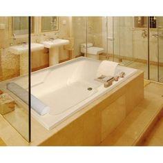 "Hydro Systems Designer Duo 72"" x 48"" Soaking Bathtub Finish: Almond"