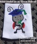 Ladybug Graduate Appliqué Design