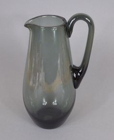 Glas Karaffe Krug Kanne Rauchglas Wagenfeld Bauhaus Art Deco Glass Carafe Jug