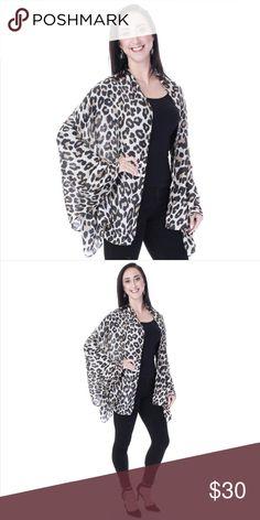 cad9a8d51db4 Cheetah Print Shawl   Big Scarf - Beige Get wild with this fabulous Cheetah  print big