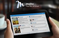 Molto es un cliente gratuito de correo para iOS y Android. Compatible con todo tipo de cuentas, ofrece una bonita apariencia y varios controles gestuales.