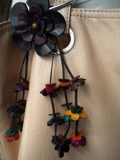 leather flower tassel