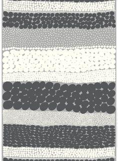 Jurmo-paksu puuvilla (harmaa, t.harmaa, l.valkoinen)  Kankaat, Puuvillakankaat   Marimekko