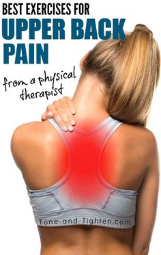 thoracic-spine-pain-upper-back-exercises-from-a-physical-therapist # back pain relief upper Best Exercises For Upper Back Pain Upper Back Exercises, Neck Exercises, Training Exercises, Back Stretches For Pain, Fitness Exercises, Workouts, Exercise For Back Pain, Shoulder Pain Exercises, Upper Back Muscles