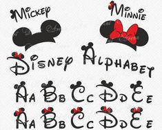 Disney Alphabet SVG Disney fanno svg orecchie svg Minnie do Disney Alphabet, Disney Letters, Font Disney, Alphabet Cursif, Fonte Alphabet, Mickey Font, Tattoo Fonts Alphabet, Disney Diy, Disney Crafts
