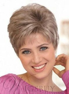 Hot Sale Top Quality Short Layered Wavy Lace Wig Human Hair Makes You More Fascinating Short Hair Over 60, Short Grey Hair, Short Hair With Layers, Short Hair Cuts For Women, Short Hairstyles For Women, Wig Hairstyles, Cheap Human Hair Wigs, Remy Human Hair, Shot Hair Styles