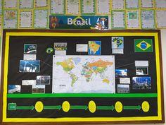 Brazil themed board