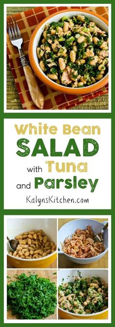 White Bean Salad Recipe  with Tuna and Parsley found on KalynsKitchen.com