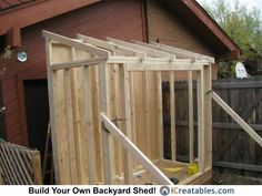 My Shed Plans - lean-to-shed-rafters-set-on-finished-walls.jpg pixels - Now You Can Build ANY Shed In A Weekend Even If You've Zero Woodworking Experience! Lean To Shed Plans, Shed Building Plans, Diy Shed Plans, Backyard Storage, Storage Shed Plans, Bungalows, Lavabo Exterior, Shed Design Plans, Curved Pergola