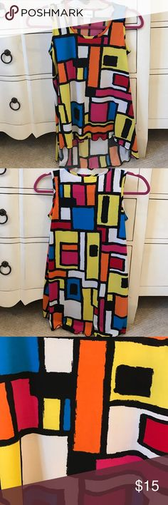 Color Block tank This adorable CW Kids tank is in great condition and is super cute with black jeans! C•W•D Kids Shirts & Tops Tank Tops