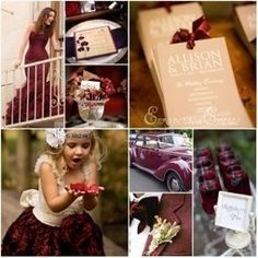 Fall Wedding Inspiration: Burgundy and Hues of Gold - Munaluchi ... | Party Favors, Decorations and Supplies | Scoop.it